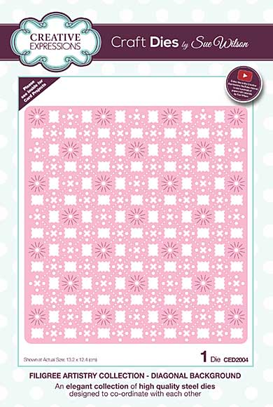 Filigree Artistry Collection Diagonal Background Craft Die
