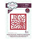 Festive Collection Poinsettia Flower Square Craft Die