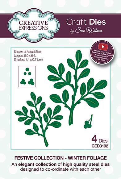 Festive Collection Winter Foliage Craft Die