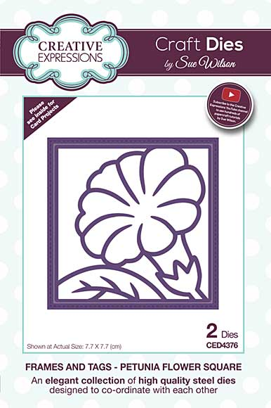 Frames and Tags Collection Petunia Flower Square