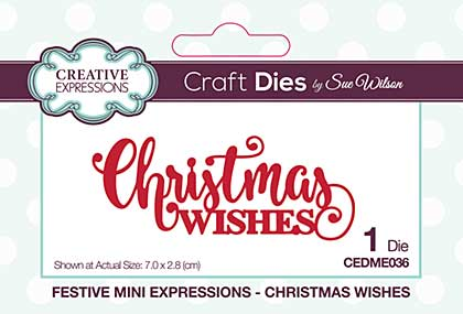 SO: Festive Mini Expressions Christmas Wishes Craft Die
