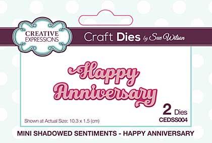 Mini Shadowed Sentiments Happy Anniversary