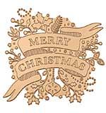 SO: Spellbinders Glimmer Hot Foil Plate Merry Christmas Banner