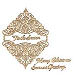 Spellbinders Glimmer Hot Foil Plate Christmas Damask Jubilee