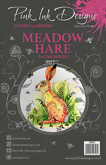 SO: Pink Ink Designs A5 Clear Stamp - Meadow Hare