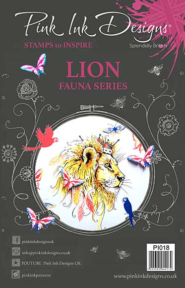 SO: Pink Ink Designs A5 Clear Stamp - Lion