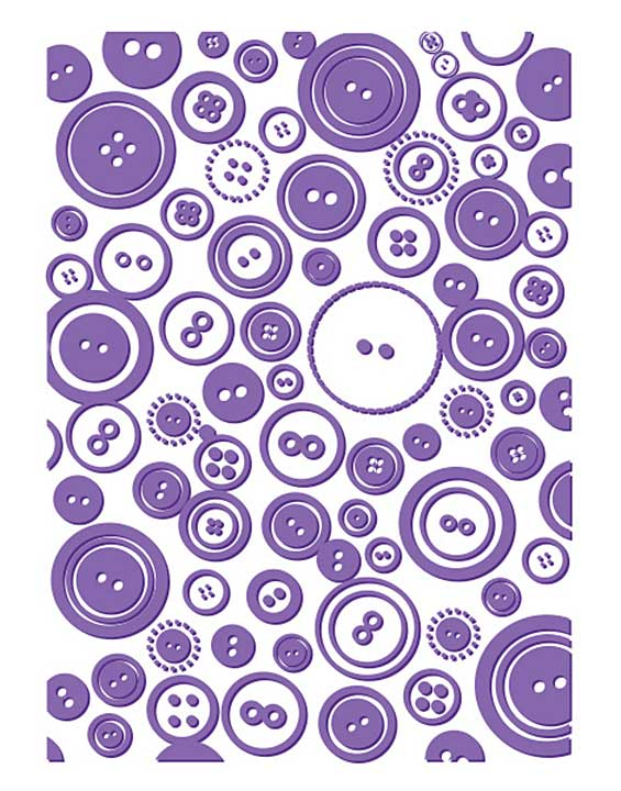 SO: Couture Creations Embossing Folder - Buttons Galore