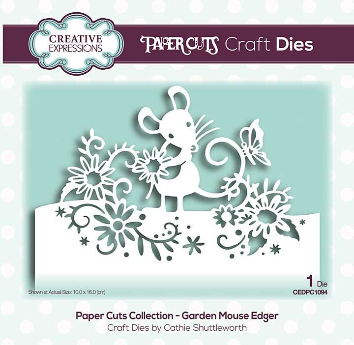 Paper Cuts Collection - Garden Mouse Edger Craft Die