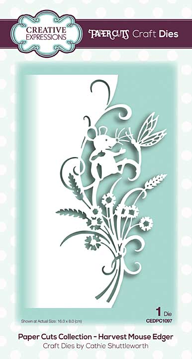 Paper Cuts Collection - Harvest Mouse Edger Craft Die