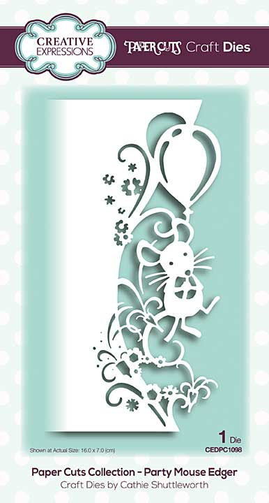 Paper Cuts Collection - Party Mouse Edger Craft Die