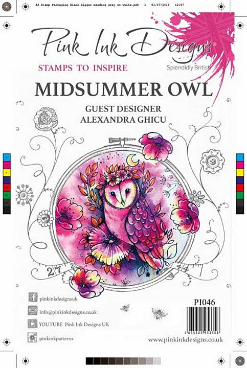 SO: Pink Ink Designs Clear Stamp Midsummer Owl A5