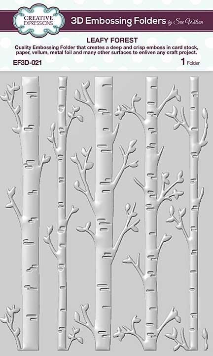 CE Embossing Folder 3D - Leafy Forest