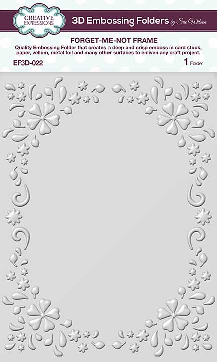 CE Embossing Folder 3D - Forget-me-not Frame