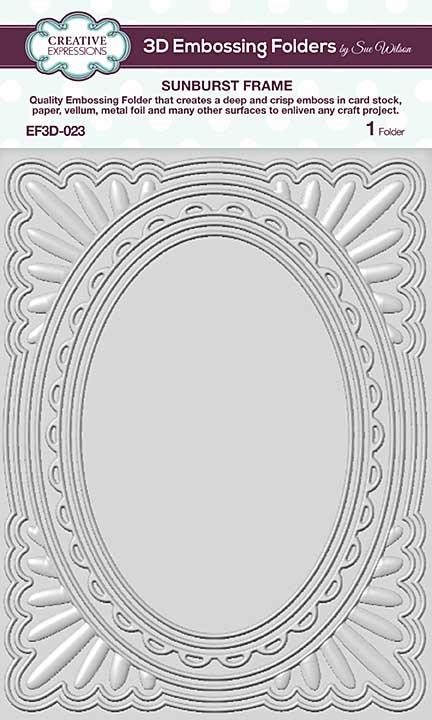 CE Embossing Folder 3D - Sunburst Frame