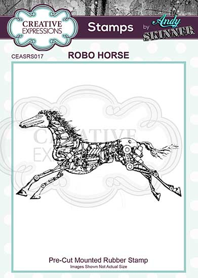 CE Pre Cut Rubber Stamp by Andy Skinner Robo Horse