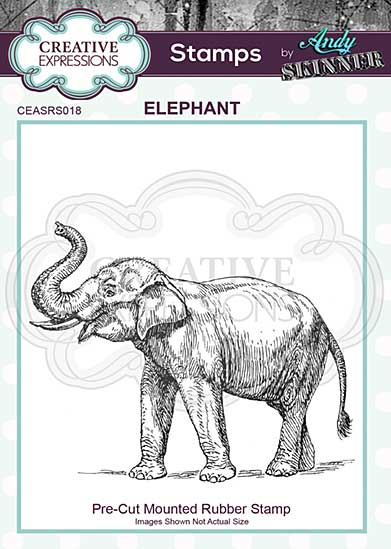 CE Pre Cut Rubber Stamp by Andy Skinner Elephant