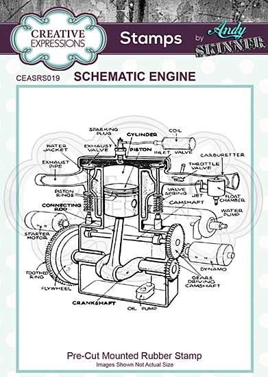 CE Pre Cut Rubber Stamp by Andy Skinner Schematic Engine