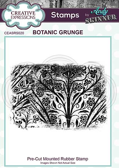 CE Pre Cut Rubber Stamp by Andy Skinner Botanic Grunge