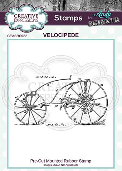 SO: CE Pre Cut Rubber Stamp by Andy Skinner Velocipede