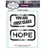 CE Pre Cut Rubber Stamp by Andy Skinner First Class