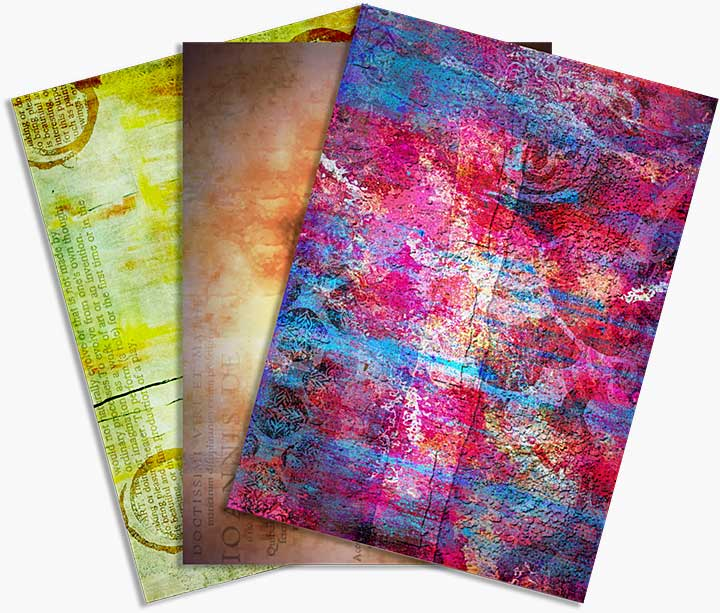 SO: CE Rice Paper by Andy Skinner Abstraction (6 Sheets)