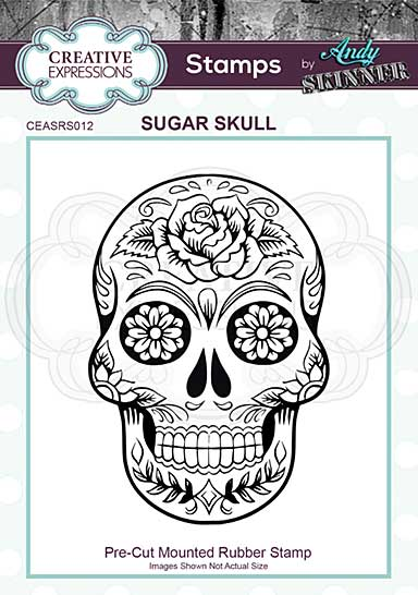 CE Rubber Stamp by Andy Skinner Sugar Skull