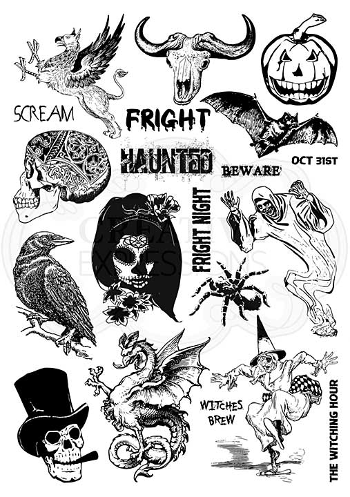 CE Mixed Media Transfers by Andy Skinner Horror