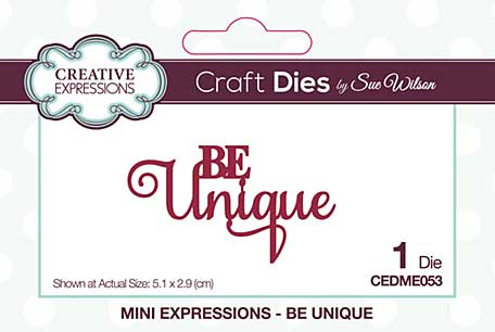 Creative Expressions Sue Wilson Mini Expressions Be Unique Craft Die [SW2001]
