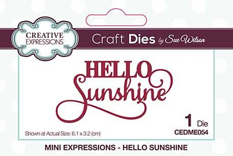 Creative Expressions Sue Wilson Mini Expressions Hello Sunshine Craft Die [SW2001]