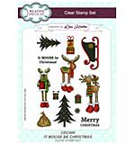 It Moose Be Christmas A5 Clear Stamp Set