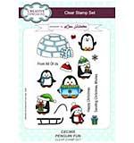Penguin Fun A5 Clear Stamp Set