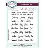 Festive Script Sentiments A5 Clear Stamp Set