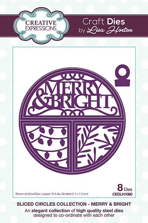 Sliced Circles Merry & Bright Craft Die