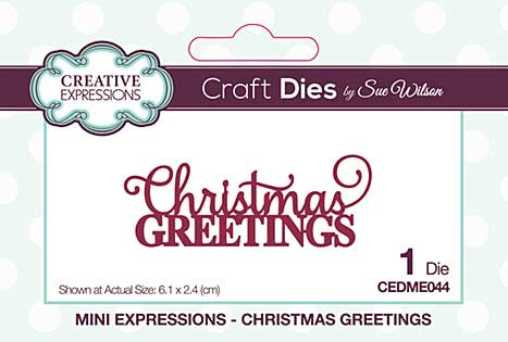 Mini Expressions Collection Christmas Greetings Craft Die