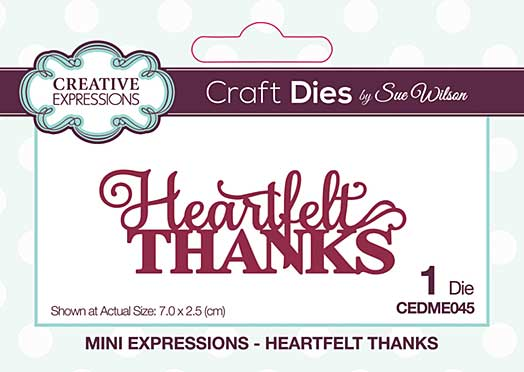 Mini Expressions Collection Heartfelt Thanks Craft Die