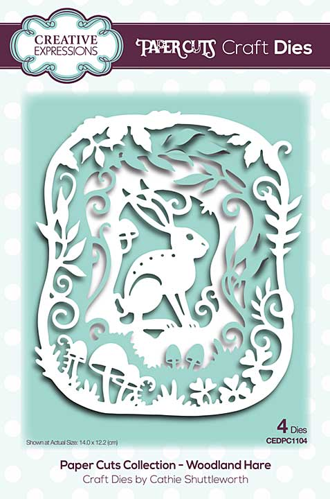 Creative Expressions Paper Cuts Woodland Hare Craft Die