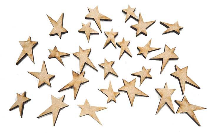MDF Mini Star Accessory Pack of 25 pcs