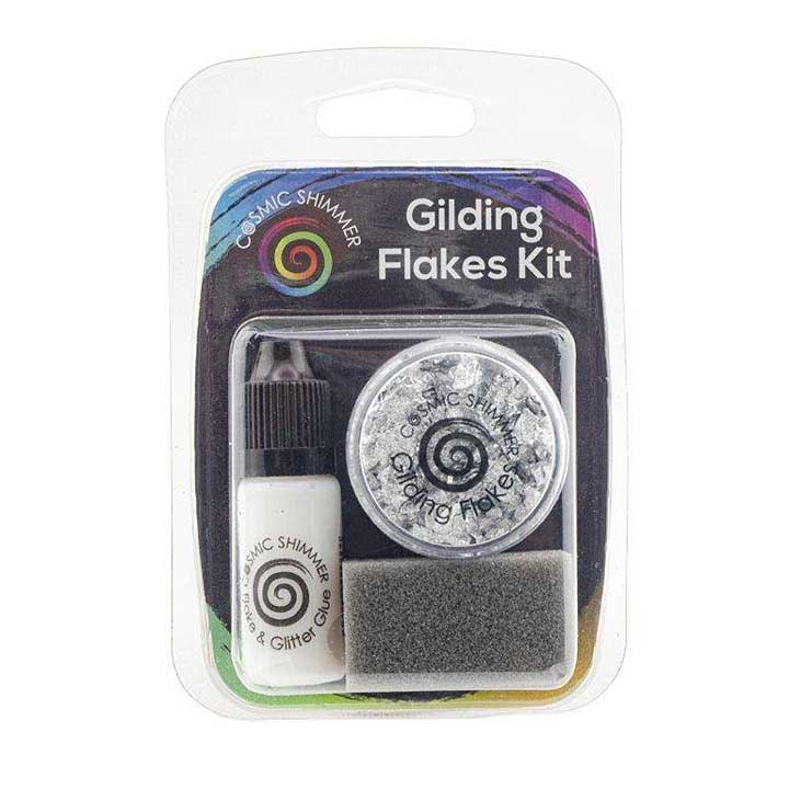 Cosmic Shimmer Gilding Flakes Kit Silver Moon
