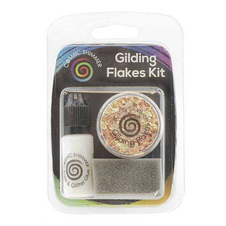 Cosmic Shimmer Gilding Flakes Kit Warm Sunrise