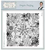 Ornate Paisley Pre Cut Rubber Stamp