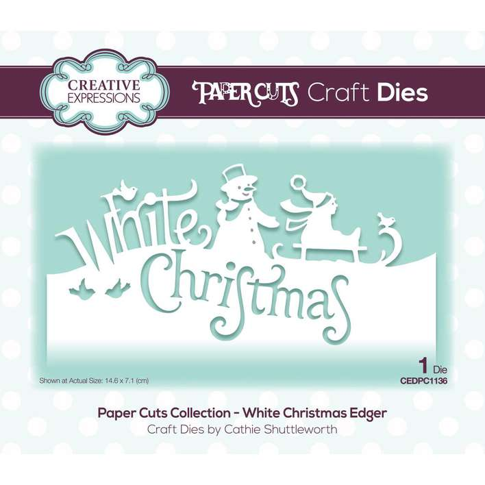Creative Expressions Paper Cuts Edger Craft Dies - White Christmas
