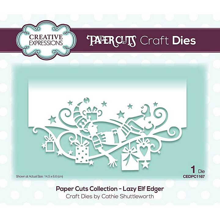 Creative Expressions Paper Cuts Lazy Elf Edger Craft Die