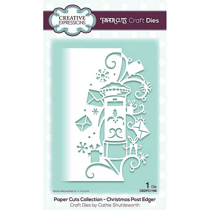Creative Expressions Paper Cuts Christmas Post Edger Craft Die