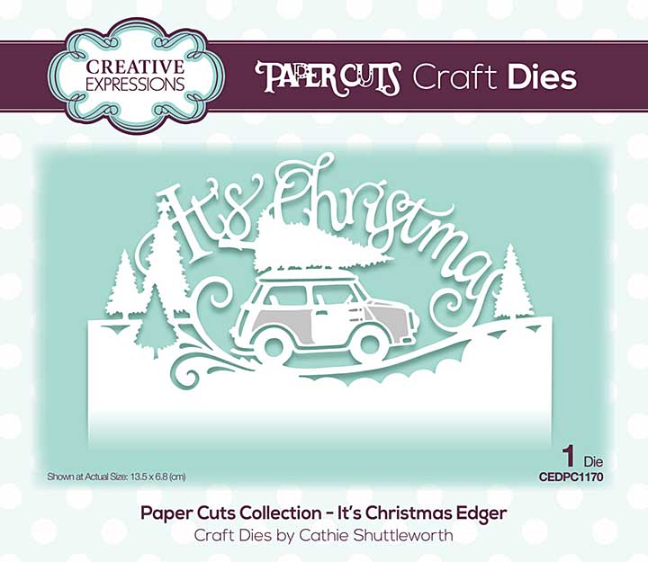 Creative Expressions Paper Cuts It?s Christmas Edger Craft Die