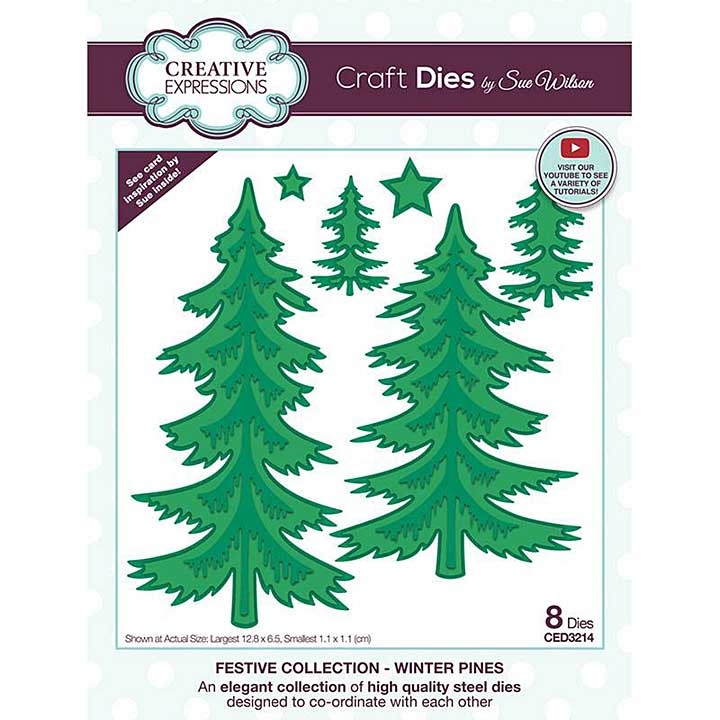 Sue Wilson Winter Pines Craft Die