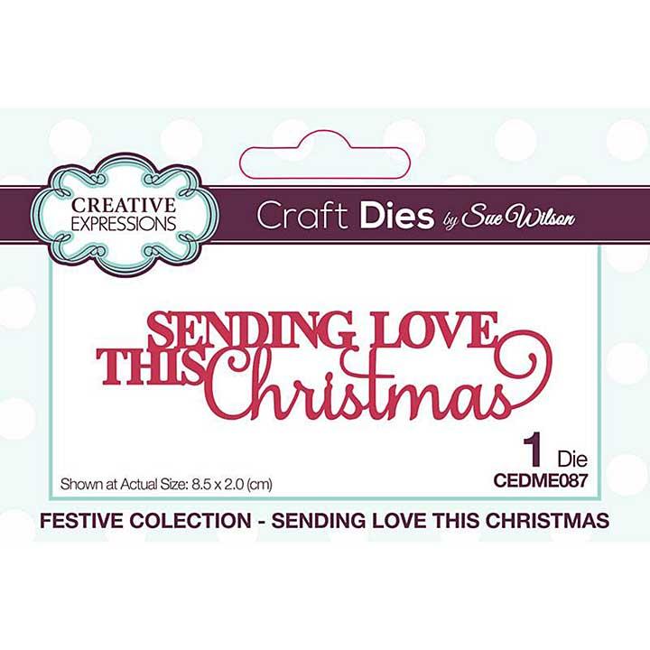Sue Wilson Mini Expressions Sending Love This Christmas