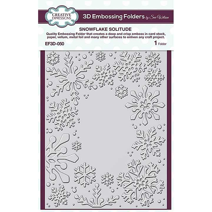 Creative Expressions Snowflake Solitude 3D Embossing Folder (5.75in x 7.5in)