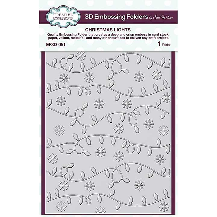 Creative Expressions Christmas Lights 3D Embossing Folder (5.75in x 7.5in)