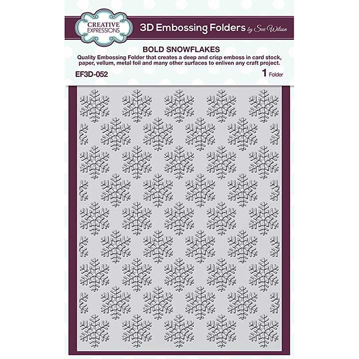 Creative Expressions Bold Snowflakes 3D Embossing Folder (5.75in x 7.5in)