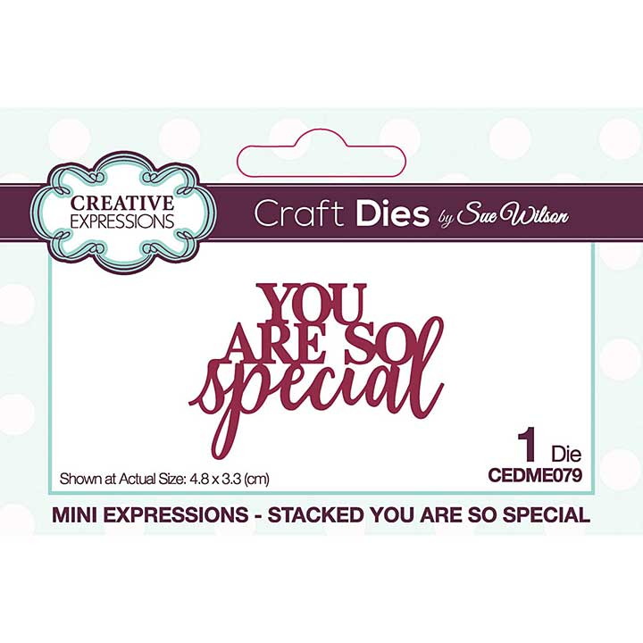 Creative Expressions Sue Wilson Mini Expressions Stacked You Are So Special Craft Die